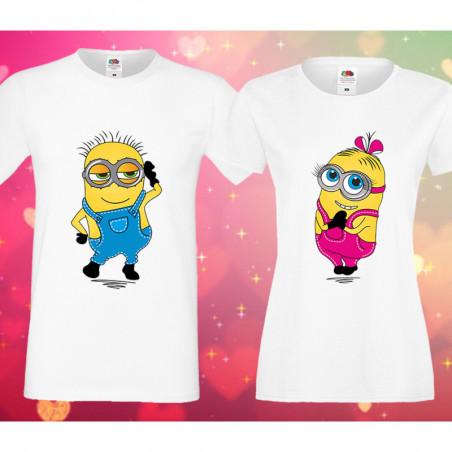 Комплект тениски за влюбени Миньони Minions love couple 2