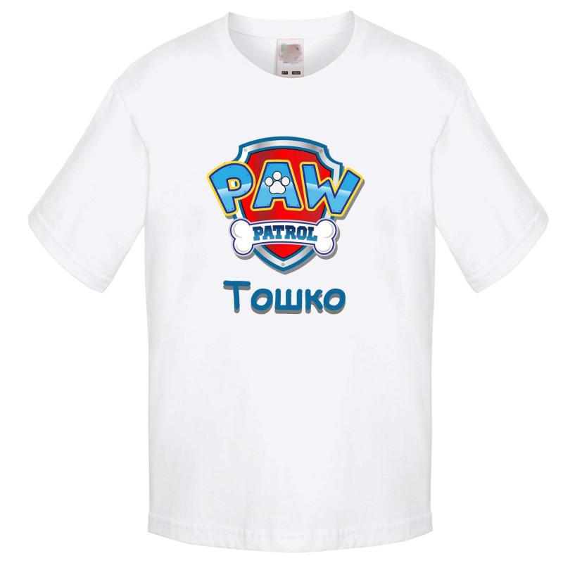 Детска тениска Paw Patrol + име