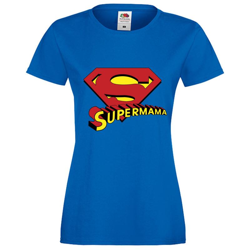 Дамска тениска с къс ръкав 8ми март Supermama