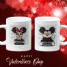 Комплект чаши за влюбени Mickey Minnie mouse bad Свети Валентин