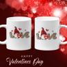 Комплект чаши за влюбени Love gnome Джуджета Гноми Свети Валентин