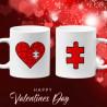 Комплект чаши за влюбени Our 1st quarantine together on Valentines day Свети Валентин