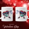 Магнит за блюбени Magnet stickman Комплект чаши за влюбениСвети Валентин