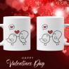 Влюбени птички Комплект чаши за влюбениСвети Валентин