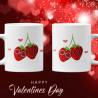 Влюбени ягоди Комплект чаши за влюбени Свети Валентин
