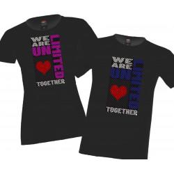 We are unlimited together сърце Комплект тениски за влюбени
