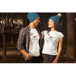 Влюбени птички Комплект тениски за влюбени