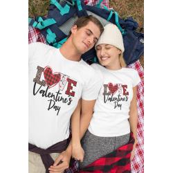 Love Valentine Day Свети валентин Комплект тениски за влюбени