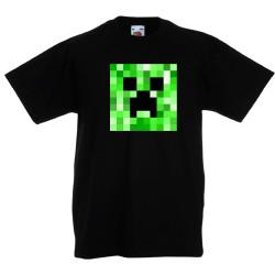 Детска тениска Minecraft Creeper Face 02