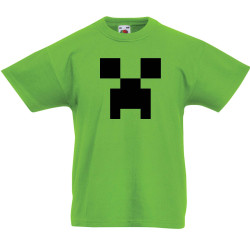 Детска тениска Minecraft Creeper Face 01
