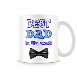 """Чаша """"BEST DAD IN THE WORLD bowtie MUG"""""""