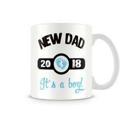 "Чаша ""new dad 2018 boy MUG"""