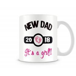 "Чаша ""new dad 2018 girl MUG"""