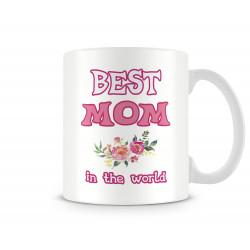 "Чаша ""BEST MOM IN THE WORLD flowers MUG"""