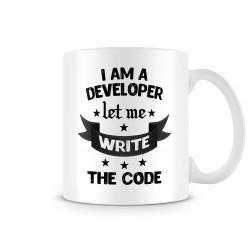 """Чаша """"I am a developer let me write the code MUG"""""""