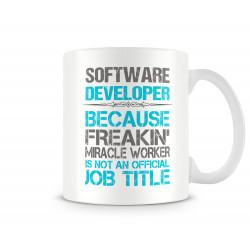 "Чаша ""SOFTWARE DEVELOPER JOB TITLE MUG"""
