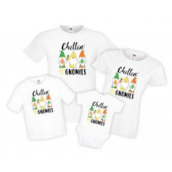 Семеен комплект тениски Великден Chillin with my gnomies