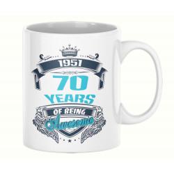 Чаша 70 years of being awesome 1951 MUG