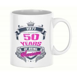 Чаша 50 years of being awesome 1971 PINK MUG
