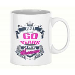 Чаша 60 years of being awesome 1961 PINK MUG