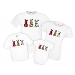 Семеен комплект тениски за Великден, Великденски зайчета