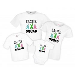 Семеени тениски за Великден зайчета Easter Squad
