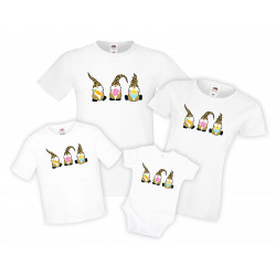 Семеен комплект тениски Великден, Джуджета Easter Gnomes