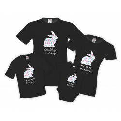 Семеен комплект тениски Великден Bunny Ears Mommy Daddy Brother Sister Baby