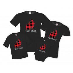 Семеен комплект тениски Великден Bunny Buffalo Mommy Daddy Brother Sister Baby