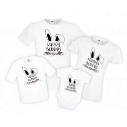 Семеен комплект тениски Великден Bunny Face Mommy Daddy Brother Sister Baby
