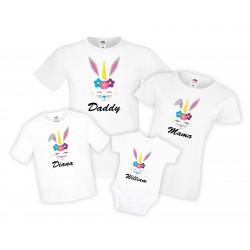 Семеен комплект Великден Заек Еднорог Unicorn Bunny