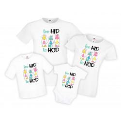 Kомплект тениски Великден Джуджета Too hip to hop