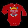 Персонализиране Бебешко боди Честит имен ден Дядо + Име по избор