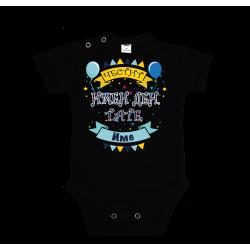 Персонализиране Бебешко боди Честит имен ден ТАТЕ + Име по избор