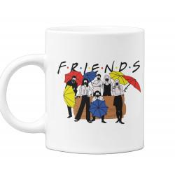 Чаша Friends Umbrellas Приятели с Чадъри и маски
