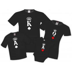 Семеен комплект тениски King Queen Ace Mommy Daddy Brother Sister Baby