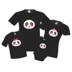 Семеен комплект тениски Panda Head Family Mommy Daddy Brother Sister Baby