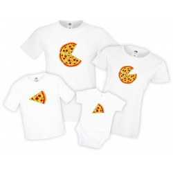 Семеен комплект тениски Pizza Slices Family
