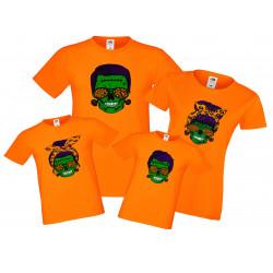Семеен комплект тениски Хелоуин Frankenstein Skull Family