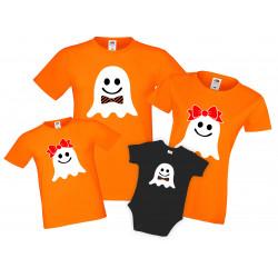 Семеен комплект тениски Хелоуин Ghosts Family
