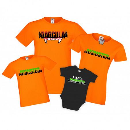 Семеен комплект тениски Хелоуин Momster Dadcula Little Monster