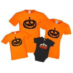 Семеен комплект тениски Хелоуин Pumpkin Grunch
