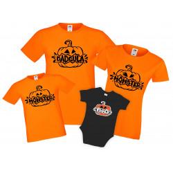 Семеен комплект тениски Хелоуин Pumpkin Momster Dadcula Monster Boo