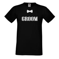 Мъжка тениска за ергенско парти THE GROOM /Младоженец