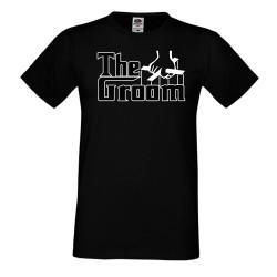Мъжка тениска THE GROOM godfather