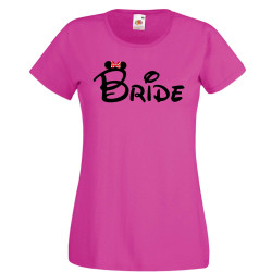 Дамска тениска за моминско парти БУЛКА Bride Disney 01