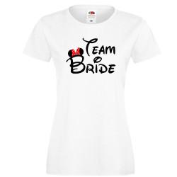 Дамска тениска за моминско парти ОТБОР БУЛКА Team Bride Disney 01