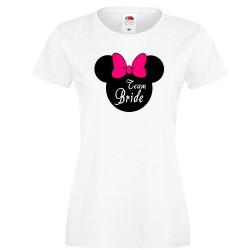 Дамска тениска за моминско парти ОТБОР БУЛКА Team Bride Disney 02