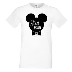 Мъжка тениска за ергенско парти BEST MAN Disney 02