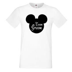 Мъжка тениска за ергенско парти TEAM GROOM Disney 02